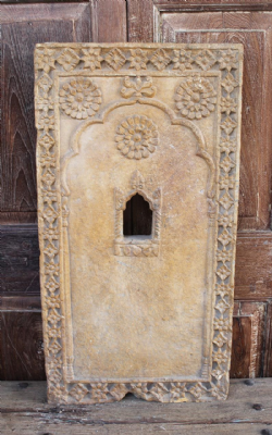 Jaisalmer Sandstone Architectural Panel with Shrine Niche <b>SOLD<b>